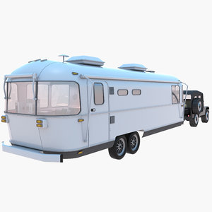 3D airstream trailer jeep