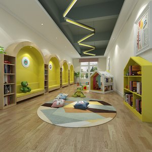 interior scene playroom 3D model