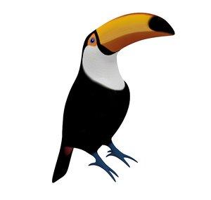 3D toucan statue simple model