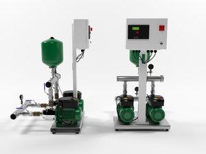3D model water wilo comfort-vario cor2-mhie205