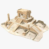 Persian Building VI - Low Poly - Textured