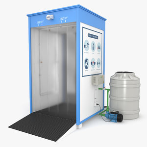 sanitizing booth 3D model
