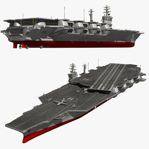 aircraft carrier warship model