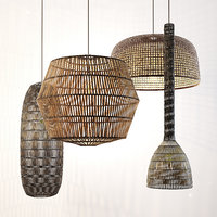 ay illuminate rattan lamp set