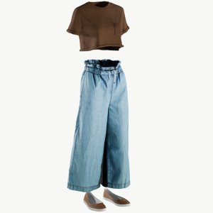 realistic women s pants 3D
