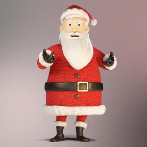 3D santa claus rigged character model