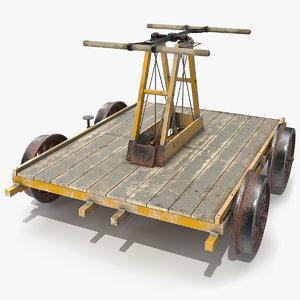 3D kalamazoo railway handcar car