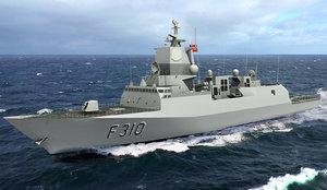 3D norwegian frigate fridtjof nansen model