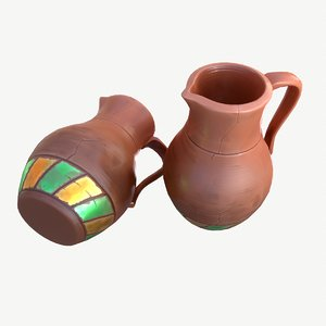 stylized jug 3D