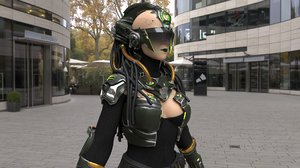 android girl character 3D model