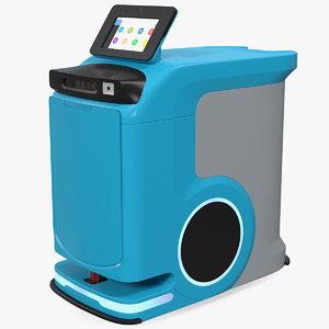 autonomous hospital delivery robot 3D model
