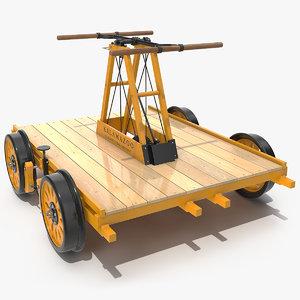 kalamazoo railway handcar car model