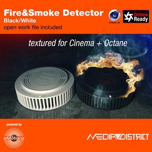 3D smoke detector generic ready model