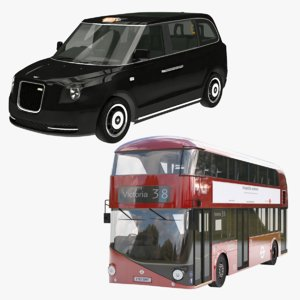 levc taxi bus london 3D model