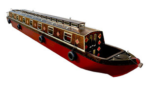 narrowboats holidays weekend 3D model