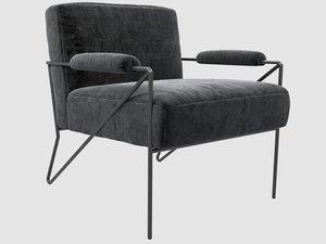 3D emmett lounge chair mink