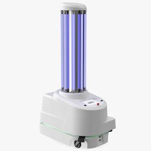 uv disinfection robot 3D model