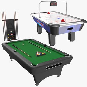 3D model real table games billiard