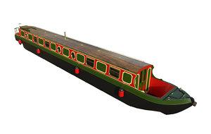 narrowboats 03 3D model