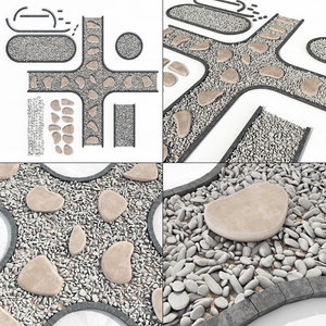 stone road plate 3D model
