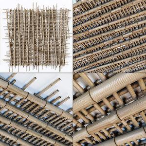 3D ceiling bamboo model