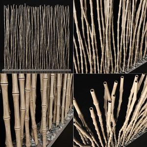 branch decor bamboo 3D model