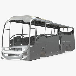 coach bus body frame 3D