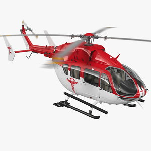 rescue helicopter rigged copter 3D