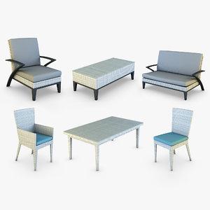 3D rexus furniture white