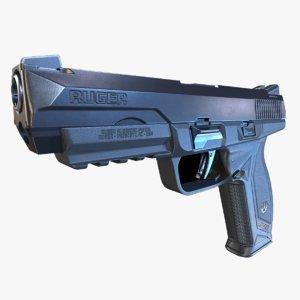 gun blender pbr model