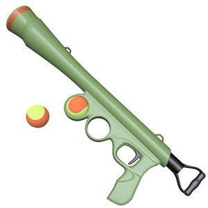 3D dog ball launcher model