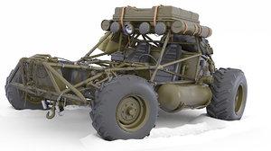 buggy car post 3D model