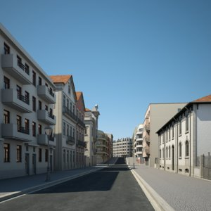 urban buildings 3D model