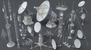 3D model 20 pieces antenna 2