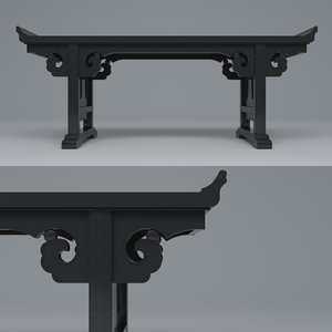 table qing dynasty 3D model