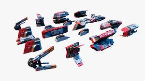 modular parts spaceship nextgen 3D