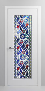 set door stained glass 3D
