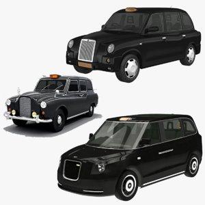 london cab taxi 3D model