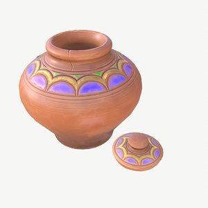 3D stylized pot