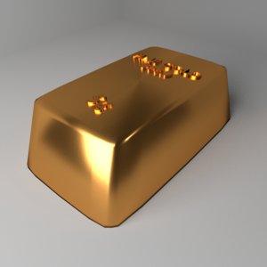 goldbar 5 gram 3D model