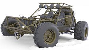 3D model buggy car post