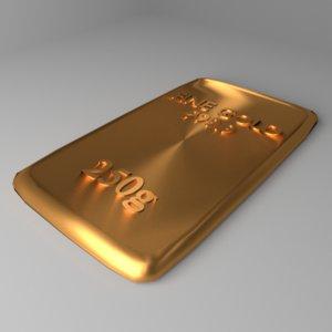 3D goldplate 250 gram model