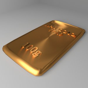 goldplate 100 gram 3D model