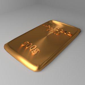 goldplate 500 gram 3D model