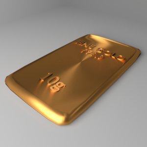 goldplate 10 gram 3D model