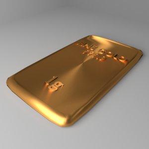 3D goldplate 1 gram model