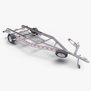 3D boat trailer single axle