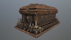 tomb candle 3D model