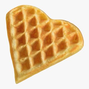 heart shaped waffle 3D model