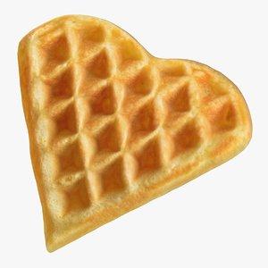 heart shaped waffle 3D model